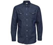 Schmal geschnittenes Hemd blue denim