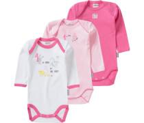 3er-Pack Bodys rosa