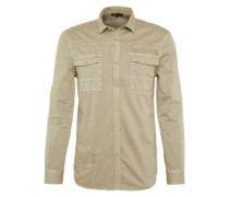 Hemd 'washed Shirt' beige