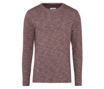Pullover 'knit optic sweat' weinrot