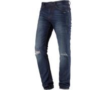 'culver' Slim Fit Jeans Herren blue denim