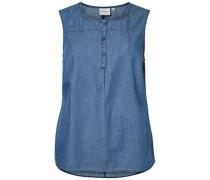 Bluse ohne Ärmel Jeans-Optik blue denim