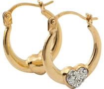 Creolen mit Swarovski Kristallen »Herz« gold / weiß