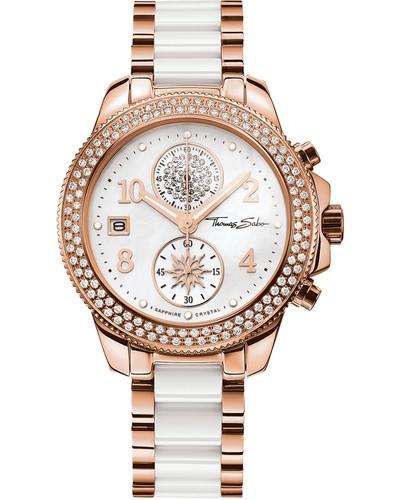 Chronograph »Glam Chrono Wa0173« rosegold / weiß
