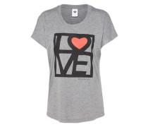 Shirt 'Love Dolman' graumeliert