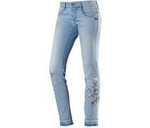 Piper Skinny Fit Jeans Damen hellblau