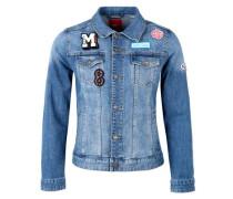 Jeansjacke mit Patches blue denim / mischfarben