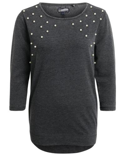 Shirt basaltgrau / perlweiß