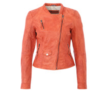 Lederjacke 'Chopper' orange