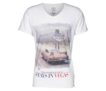 T-Shirt mit Print weiß