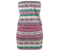 Bandeau-Kleid mischfarben