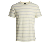 Gestreiftes T-Shirt hellgelb / hellgrau