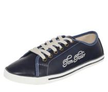 Sneaker mit Logo in Lederoptik blau / dunkelblau / weiß