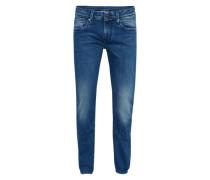 Jeans in Used-Optik 'Hatch' blue denim