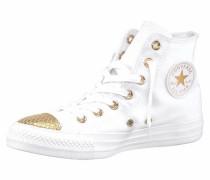 Sneaker 'Chuck Taylor All Star Metallic Toecap Hi' gold / naturweiß