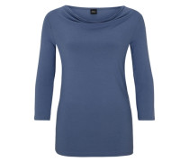 Jerseyshirt mit 3/4-Arm blau