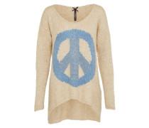Pullover 'wkn Beverly round' beige / hellblau
