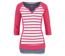 Shirt (Set 2 tlg. mit Top) marine / pitaya / weiß