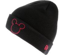 'Mickey Mouse' Beanie Kinder schwarz