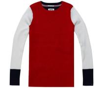 Pullover ´thdw Stripe CN Sweater L/S 28´ marine / dunkelrot / weiß