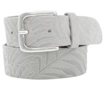 Suede-Gürtel mit Palmen-Muster grau