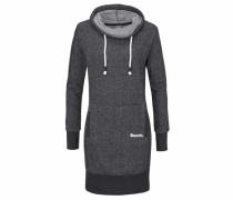 Sweatkleid schwarzmeliert / weiß