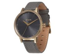 Armbanduhr 'Kensigton Leather' (Gehäuse: 33 mm) gold / anthrazit