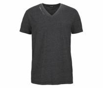 T-Shirt anthrazit / weiß