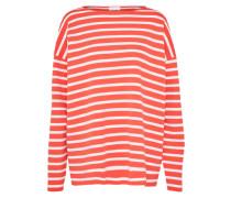 Pullover 'florrie' orangerot / weiß