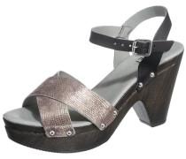 Sandaletten bronze / schwarz