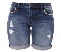 Smart Short: Destroyed Jeans blau