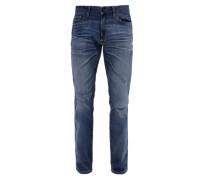 Tubx Straight: Used Stretch-Jeans blau