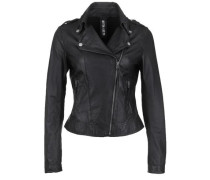 Lederjacke 'blow Away' schwarz