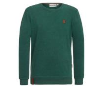 Male Sweatshirt 'Ich hab Augenbart' grün