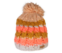 Beanie 'Feather' creme / orange