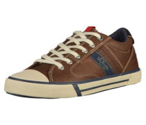 Sneaker blau / mokka / schwarz