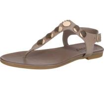 Sandaletten dunkelbeige / gold