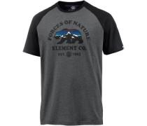 'Vista Raglan' T-Shirt Herren dunkelgrau / schwarz