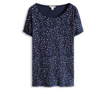 T-Shirt mit Allover-Print blau