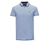 Poloshirt Baumwollpikee blau