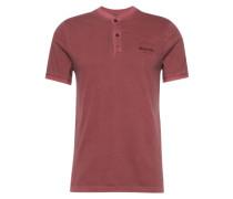 T-Shirt 'SS Henley' burgunder