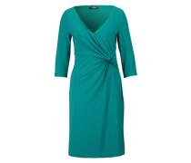 Kleid in Wickeloptik grün / blau