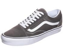 'Old Skool Lite' Sneaker rauchgrau / weiß