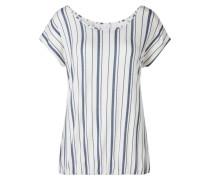 T-Shirt naturweiß / taubenblau