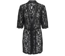 Spitzen Kimono schwarz