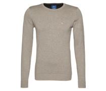 Strickpullover 'basic crew-neck sweater' grau