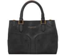 Bureau Mini Handtasche Leder 30 cm schwarz