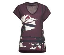 Print-Shirt 'Sadia print' bordeaux / weiß