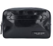 Passpartout Uomo Necessaire Kulturbeutel Leder 25 cm schwarz