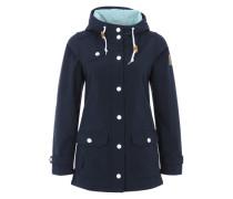 Softshell-Jacke mit Kapuze 'Peninsula' navy / hellblau